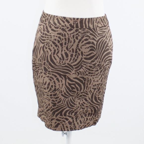 banana republic Dresses & Skirts - Brown geometric BANANA REPUBLIC pencil skirt 2
